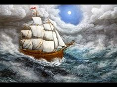 Lost at Sea - Full Acrylic Painting Tutorial, Using Only 6 Colors - YouTube