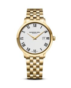Raymond Weil Toccata Stainless Steel and Gold Pvd Watch, 39mm