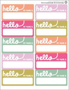 school name tags printable - Google Search