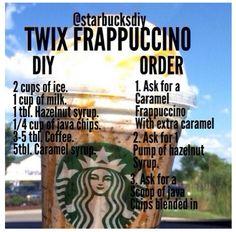 Starbucks Twix Frappuccino More from my siteStarbucks Frappuccino Slime is a no borax slime recipe that is smooth and runs t…Starbucks frappuccino vanille maison – Frappuccino Starbucks Hacks, Starbucks Secret Menu Drinks, Starbucks Coffee, Starbucks Drinks Without Coffee, Fun Drinks, Yummy Drinks, Beverages, Bebidas Do Starbucks, Frappuccino Recipe