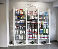 Inicio Pharmacy Store, Retail Shelving, Store Window Displays, Counter Design, Cosmetic Shop, Booth Design, Retail Design, Store Design, Clinic