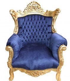 Casa Padrino Barock Sessel 'Al Capone' Royablau/Gold - Antik Stil Casa Padrino http://www.amazon.de/dp/B00PGI38RI/ref=cm_sw_r_pi_dp_Ix54ub1P0RWHF