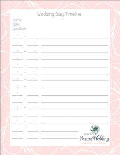 Free Printable Wedding Programs Custom Printables Katies - Wedding timeline free template