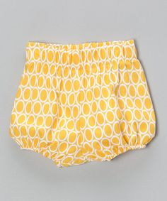 Take a look at this Yellow Circle Diaper Cover - Infant & Toddler by Bellinni by Bebe Bella Designs on #zulily today!