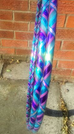 Blue and purple polypro twin hula hoops