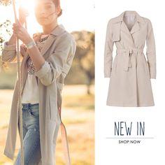 // NEW IN // shop now: http://www.tiffosi.com/nova-colec-o/mulher/casaco-comprido-gabardine-bege.html #tiffosi #tiffosidenim #newin