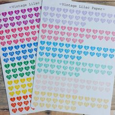 12 Month Date Heart Planner Stickers:  by VintageLilacPaper