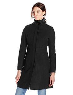Via Spiga Women's Funnel-Neck Wool-Blend Coat - http://www.darrenblogs.com/2017/03/via-spiga-womens-funnel-neck-wool-blend-coat-2/