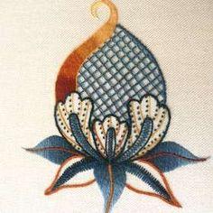 jacobean hand embroidery | Work Company Ltd, Crewel Embroidery, Jacobean Embroidery, Jacobean ... #crewelembroidery