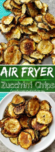 Air Fryer Zucchini Chips I wouldn't dehydrate zucchini unless I grew to. Air Fryer Zucchini Chips I wouldn't dehydrate zucchini unless I grew too many ~ keto recipes healthy Air Fryer Oven Recipes, Air Fryer Dinner Recipes, Air Fryer Recipes Zucchini, Healthy Zucchini Recipes, Air Fryer Recipes Vegetarian, Healthy Chips, Paleo Eggplant Recipes, Simple Healthy Recipes, Air Fryer Recipes Chicken Tenders