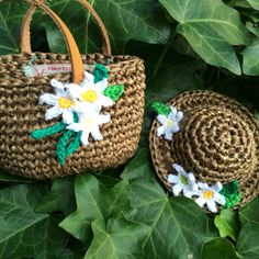 crochet bag & hat