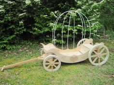 Handmade Medium Cinderella Pumpkin Carriage by Handcrafted Western Wagons | CustomMade.com.  Oh do I need this!  :)