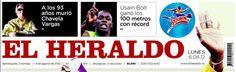 Portada Impresa - El Heraldo - Colombia - Chavela Vargas