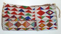 Africa | Armbands from the Kamba people of Kenya | ca. 20th century | Glass beads, glass buttons, and fiber