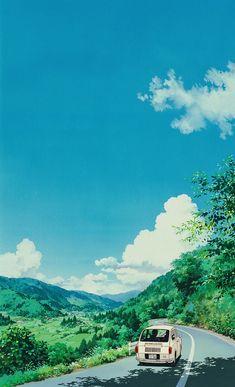 #StudioGhibli #car #road