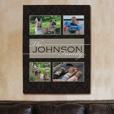Family Collage Photo Wall Canvas | Family Photo Collage Canvas