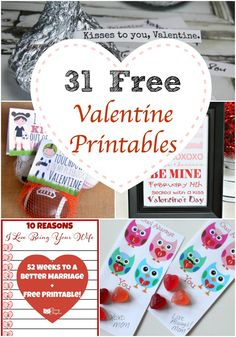 These free valentine printables are awesome! Simply print out and start having some Valentine's Day fun.