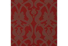 Damask Cotton-Blended Fabric, Red on OneKingsLane.com