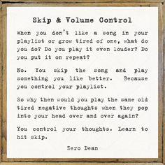 Skip & Volume Control #zerosophy
