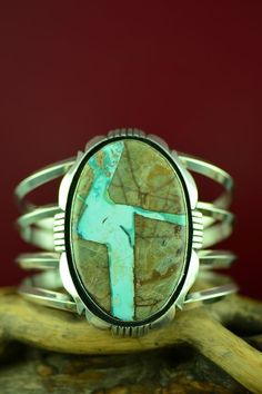 Turquoise Jewelry Outfit Navajo Sterling Silver Royston Blue Ribbon Turquoise Bracelet by Will Denetdale Silver Jewelry Box, Ruby Jewelry, Stone Jewelry, Sterling Silver Jewelry, Navajo Jewelry, Southwest Jewelry, Western Jewelry, Bling Jewelry, Silver Ring