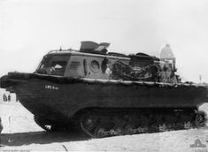 German tracked amphibious tractor (Land-Wasser Schlepper  - LWS). Ordered by the Heereswaffenamt in 1935 for use by German Army engineers, the LWS was intended as a lightweight river tug with some capacity to operate on land. By autumn 1940 three prototypes had been completed and were assigned to Tank Detachment 100 as part of Operation Sealion. They were to be used for pulling ashore unpowered assault barges during the invasion and towing vehicles across the beaches.