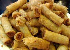 Lumpia - a traditional filipino appetizer - similar to eggrolls but so much better.
