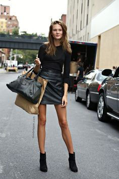 insanely stunning. #IrinaKulikova #offduty in NYC. the woman has legs for days. bonkers.