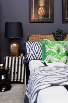 Mix Prints and Patterns in the Bedroom