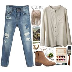 #blackfive @blackfive  You can find the shirt, jeans, ankle boots, bracelet, shoulder bag, and more great finds all at www.blackfive.com :)  Join my group :) ht...