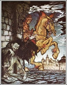 Tales of mystery and Imagination by Edger Allen Poe and Illustrated by Harry Clark and Arthur Rackham in html format Arthur Rackham, Edgar Allan Poe, Fairy Land, Fairy Tales, Allen Poe, Children's Book Illustration, Book Illustrations, Gustav Klimt, Conte