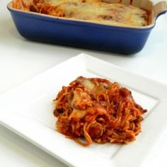 Easy Baked Spaghetti by thesaltykitchen