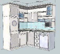 la cucina aspen di doimo cucine prevede colonne a filo muro e basi ... - Mobili Angolari Cucina