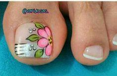 Pretty Toe Nails, Cute Toe Nails, Toe Nail Art, Nail Art Diy, Love Nails, Diy Nails, Pedicure Designs, Toe Nail Designs, Feet Nail Design