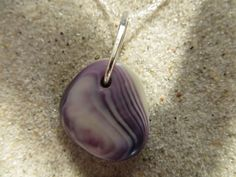 Seashell jewelry purple wampum shell necklace by InnershellWampum, $45.00