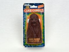 Star Wars Chewbacca Birthday Candle by Wilton - Empire Strikes Back by TricycleVintage on Etsy https://www.etsy.com/listing/208545538/star-wars-chewbacca-birthday-candle-by