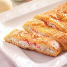 Crab Crescent Loaf Recipe. Golden crescent roll slices are scrumptious filled with dilled cream cheese and tender pieces of crab. You're sure to appreciate the rich flavor and easy preparation