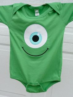 Adorable Mike like Monster onesie. and alexis would go as boo, cute halloween idea