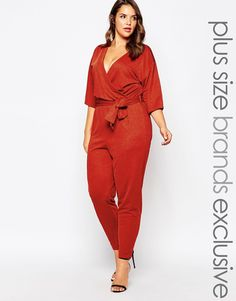 114b9c669fe Image 1 of Pink Clove Kimono Sleeve Jumpsuit With Wrap Belt Overalls  Fashion