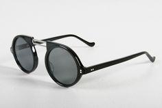 Round black Circleline unisex  sunglasses from Oak NYC