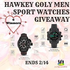 Cassandra M's Place: Hawkey Goly Men Sport Watches Giveaway