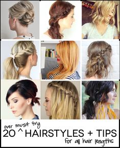 Over 20 amazing must try hairstyles!  For all hair lengths.  These would be fun to try for fall.