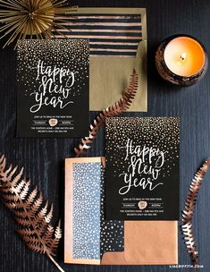 nice New Year's Eve Party Invitation - Lia Griffith Best Quotes - Wedding