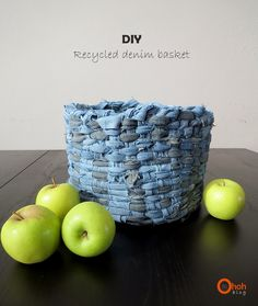 Ohoh Blog - diy and crafts: DIY recycled denim basket
