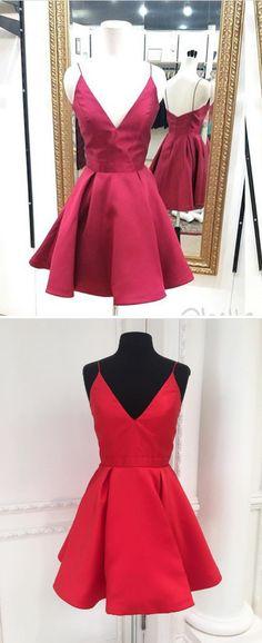 short prom dress, red prom dress, 2017 short homecoming dress, red short homecoming dress, party dress