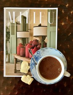 Mileu Magazine and hot chocolate Hot Chocolate, Cocoa, Routine, Healthy Eating, Wellness, Magazine, Tableware, Desserts, Instagram