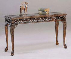 Prescott Sofa Table in Dark Cherry Finish  50 in. W x 18 in. D x 30 in. H (45 lbs.)