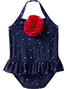 Star-Print Halter Swimsuits for Baby Product Image