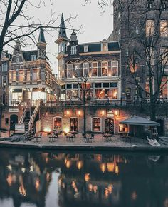 The city of Utrecht characterized by medieval old town canals