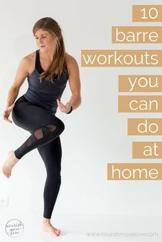 Learn the barre basics in the comfort of your own home. All you need is a sturdy chair and some light weights to tone your trouble zones. Barre Exercises At Home, Pilates Barre, Cardio Workout At Home, Ballet Barre, Yoga Exercises, At Home Workouts, Barre Workouts, Dancer Body Workouts, Barre Core