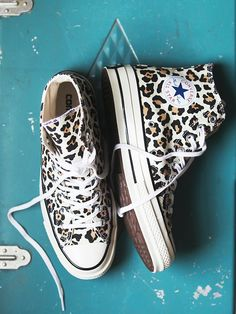 Converse Leopard Hi Top Chucks at Free People Clothing Boutique || Holy oh my I need these